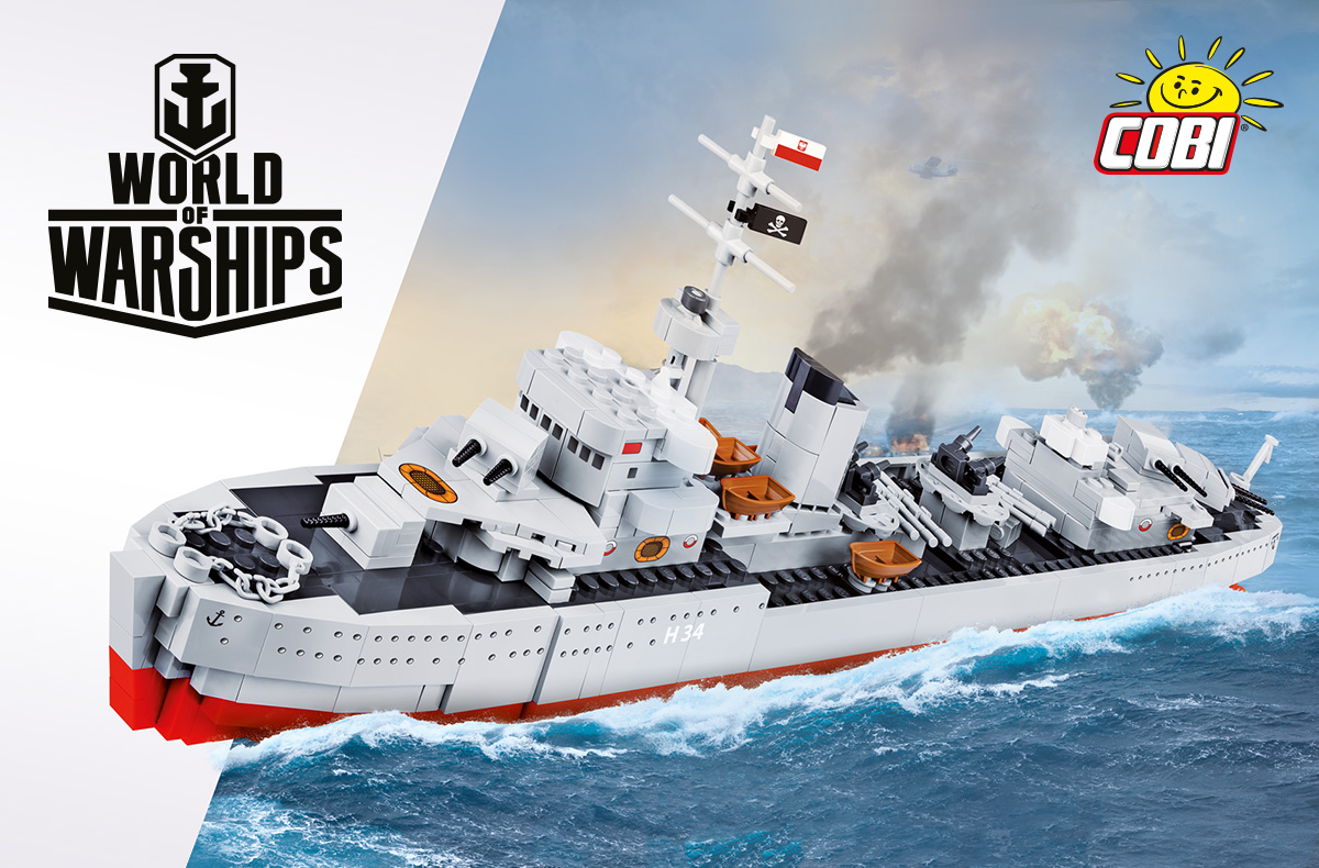 Błyskawica Sets Sail For Cobi's New World of Warships Range